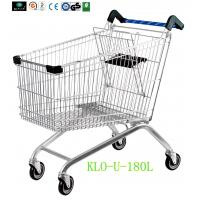 Wholesale Portable Metal Chrome Plated Disabled Shopping Trolley For Hypermarket 180 Litre from china suppliers