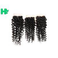Wholesale 100% Density Brazillian Human Hair Lace Clsure Deep Wave SGS from china suppliers