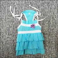 Wholesale Blue Cotton, Bead Fashionable Custom Dog Dresses for Chihuahua, Maltese from china suppliers