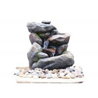 Wholesale Outdoor Rock Water Fountains , Stone Waterfall Fountain With Cement Material from china suppliers