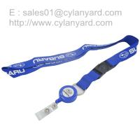 plastic card reel lanyard with plastic strap