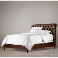 Wholesale High end King Leather Bed , fully upholstered king size leather storage bed from china suppliers