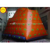 Wholesale Yellow Gigantic Inflatable Water Park / Inflatable Climbing Iceberg Floating Water Game from china suppliers