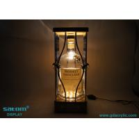 Adjustable Brightness Bottle Glorifier Natural Bamboo Metal Product Glorifier
