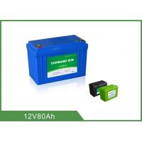 Wholesale 12V 80Ah Lithium Iron Phosphate Deep Cycle Battery No Memory Effect from china suppliers