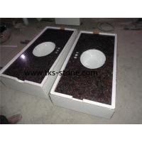 Wholesale Tan brown,Indian brown granite vanity tops,bathroom countertops,bath tops from china suppliers