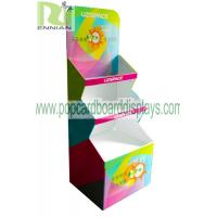 Color printing cup Corrugated Cardboard Display stand glossy lamination ENCC125