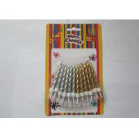 Wholesale Disposable Golden Silver Birthday Candles , Spiral Pillar Happy Birthday Cake Candles from china suppliers