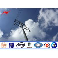 Wholesale Medium Voltage  16m 2.5KN Galvanized Steel Pole Utility Structure For Different Transmission Line from china suppliers