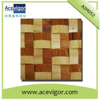 Wholesale Solid wood wall tiles mosaic with wavy shape from china suppliers