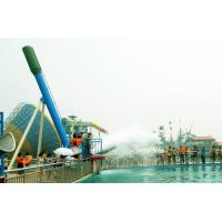 Wholesale Custom 12.5m Cannon Ball Steel Pool Water Slides For Water Park Equipment from china suppliers