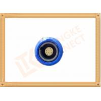 Wholesale Blue Plastic Female Push Pull Circular Connectors / 10 Pin Circular Connector from china suppliers