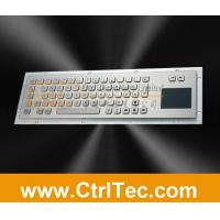 64/65 keys stainless steel keyboard with touchpad, waterproof and vandal resistant