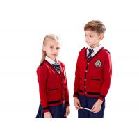 Wholesale Gauge 12GG Cotton Knitted School Uniform Sweaters For Primary Students from china suppliers