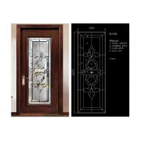 Wholesale Classical Color Door Art Glass Panels Thermal Sound Insulation Various Shape from china suppliers
