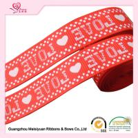Wholesale 2cm Red Printed Heart valentine Grosgrain Ribbon silk Screen process from china suppliers