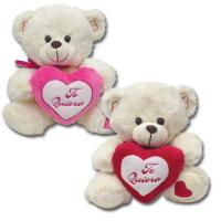 Wholesale Off White Valentines Day Stuffed Toys Soft Plush Bear With Red Heart from china suppliers