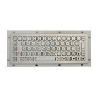 Wholesale IP68 Stainless Steel Mini Industrial Metal Keyboard No FN Keys , With USB / PS2 Connectors from china suppliers