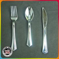 Wholesale Chinese High Quality Silver Coated PS Plastic Cutlery Set from china suppliers