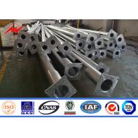 Wholesale conical type Q235 Steel galvanized Street Light Poles 6M 7M 8M from china suppliers