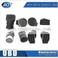 Wholesale J1939 green TypeII connector obd2 female to j1939 adapter J1708 adapter from china suppliers