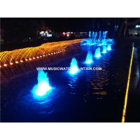 Wholesale Cast iron Outside Fountain , Backyard Water Fountains With IP 68 RGB Multicolored Led Light from china suppliers