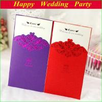 China Fashion Wedding Invitations 2014 Design Personalized Wedding Cards with Envelopes and Seal with Free Printing on sale