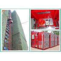 Wholesale High Efficiency Construction Material Hoist , Building Site Lifting Heavy Equipment Twin Cage from china suppliers