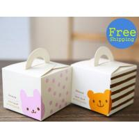 Wholesale Biodegradable Single Cute Cookie Cake Boxes With Window Varnishing Printing Handling from china suppliers