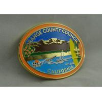 Wholesale California Orange County Council Custom Made Buckles With Gold Plating And Soft Enamel from china suppliers