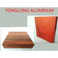 Wholesale RAL Colors 6063 T5 Wood Finish Aluminium Profiles , Fine Workmanship and Durability from china suppliers