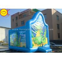 Wholesale PVC Kids Inflatable Jumper Commercial Dinasaur Inflatable Bouncer Cute Blue Dragon from china suppliers