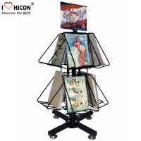 Wholesale Greeting Cards Retail Store Fixtures Movable Commercial Book Display Wire Spinner Rack from china suppliers