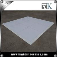 Wholesale 4' * 4' portable white dance floor cheap portable wooden dance floor with aluminum edge from china suppliers