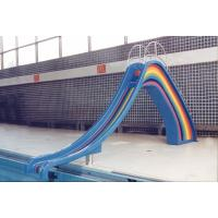 Wholesale Children Small Water Slide Indoor Swimming Pool Blue Rainbow from china suppliers