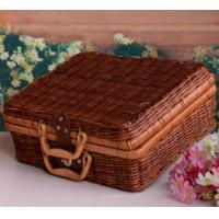 Wholesale Outdoor Natural Rattan Picnic Basket from china suppliers