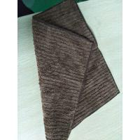 Wholesale Brown Stitching Striped Coral Fleece Microfiber Kitchen Towels 32*32cm from china suppliers