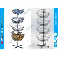 Wholesale Toys Four-basket Simple Wire Display Stands/ Spinner Display Revolving Dump Bins from china suppliers
