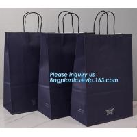 Wholesale Custom coloured square bottom paper carrier bag with rope handle,China printing factory plastic shipping mailing bag pac from china suppliers