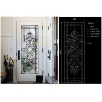 Wholesale Energy Saving Decorative Art Glass Window Panels , Embroidered Inlay Glass Sheets from china suppliers