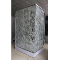 Wholesale shower cubilce 5m door thickness Corner  square shower stall stripe glass from china suppliers