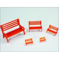 Wholesale Y30-01 1:30 Custom Scale Model Train Layouts Red Plastic 3D Park Chairs from china suppliers