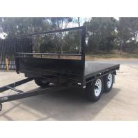Wholesale Heavy Duty 14 x 7 Tray Top Trailer , Flat Utility Trailer With Full Length Side Tie Rails from china suppliers