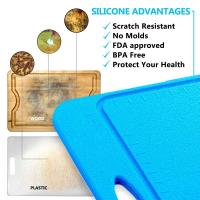 Wholesale Not Moldy Big Size BPA Free Anti Slip Silicone Cutting Mat Of Size 36*25CM from china suppliers