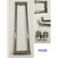 Wholesale SUS304 Polished Chrome shower handle / glass door handle N0598 from china suppliers