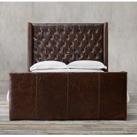 Wholesale Modern contemporary burgundy full size leather bed for home , hotel , restaurant from china suppliers