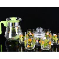 Wholesale 860ml Glass Water Kettle Glass Teapot Set Of 6 PP Handle None Sleeve from china suppliers