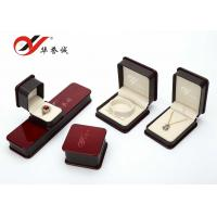 Wholesale Jewelry Storage Plastic Jewellery Box Handmade Burgundy Color With Paint Cover from china suppliers