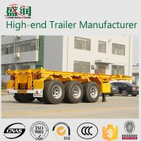 Wholesale 30T- 45T Carbon steel with tri-axle Container Trailer Chassis 20 ft 40ft from china suppliers