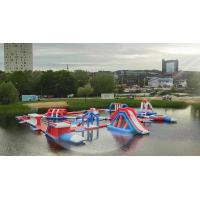Buy cheap 165 People Capacity Inflatable Water Park Customized Color TUV Certificate from wholesalers